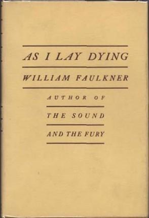 """Portada de la primera edición de """"Mientras agonizo"""" (año 1930). Fuente: Wikipedia."""