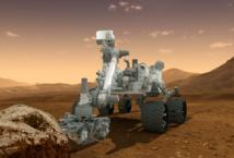 Recreación artística del robot Curiosity sobre Marte. Fuente: NASA.