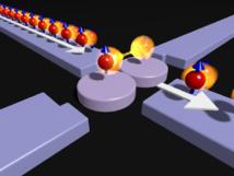 Esquema del dispositivo de puntos cuánticos creado. Fuente: Centro RIKEN.