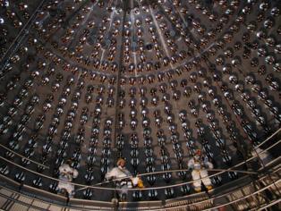El experimento Borexino ha detectado 24 neutrinos producidos en el interior de la Tierra, durante siete años. Fuente: INFN/Gran Sasso.