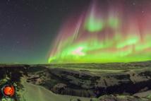 Aurora boreal desde Islandia tomada el 17 de marzo 2015. Fuente: GLORIA.