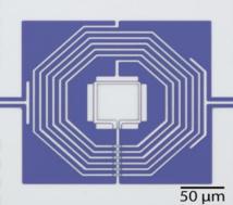 Esquema del dispositivo creado en Caltech. Imagen: Chan Lei/Keith Schwab. Fuente: Caltech.