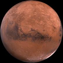 Marte. Imagen: USGS. Fuente: Wikipedia.