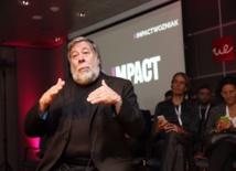 Wozniak, durante la charla. Fuente: UEM.