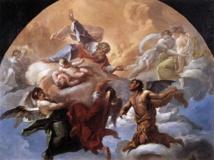 'Satanás ante el Señor', de Corrado Giaquinto (siglo XVIII). Fuente: Wikipedia.