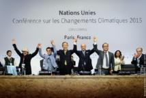 El plenario rompe en aplausos el pasado 12 de diciembre de 2015, tras la aprobación del Acuerdo de París. Imagen: COP PARIS. Fuente: Sinc.