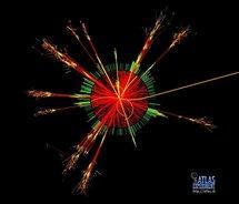 Simulación de agujero negro en el LHC. Fuente: CERN.