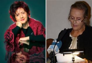 De izquierda a derecha, Juana Castro y María Victoria Atencia, poetas de la Colección Genialogías. Fuente: Asociación Genialogías/Editorial Tigres de Papel.