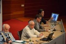 Un momento del congreso con José Esquinas (izda.), Eduardo Martínez, Juan Torres y Diego Isabel La Moneda. Foto: Alberto Robles. Fundación Valores.