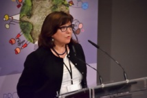 La presidenta de la Fundación Valores, María José Carrillo, en un momento de su intervención. Foto: Alberto Robles. Fundación Valores.