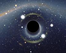 Visión artística de un agujero negro. Imagen: Alain r. Fuente: Wikipedia.