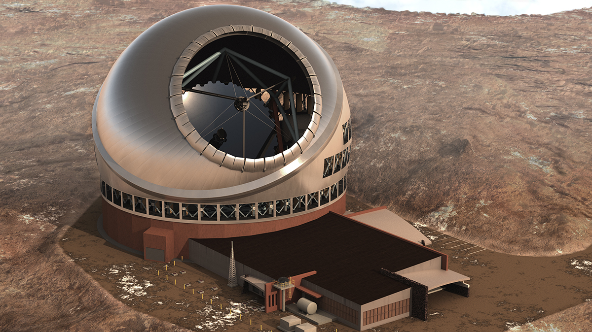 De Courtesy TMT Observatory Corporation.