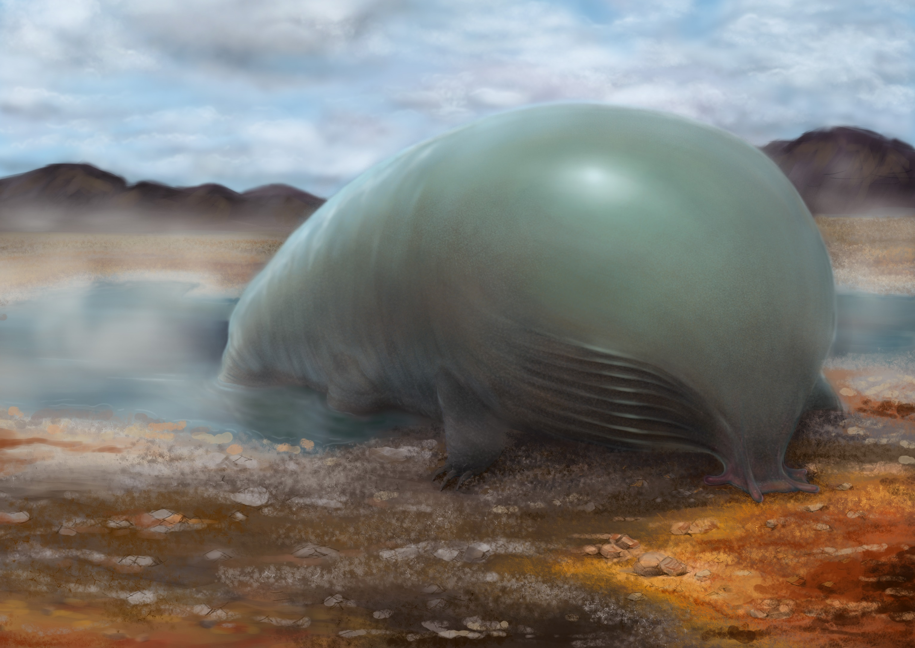 Visión artística de vida extraterrestre hecha de silicio.  © Lei Chen et Yan Liang, Caltech