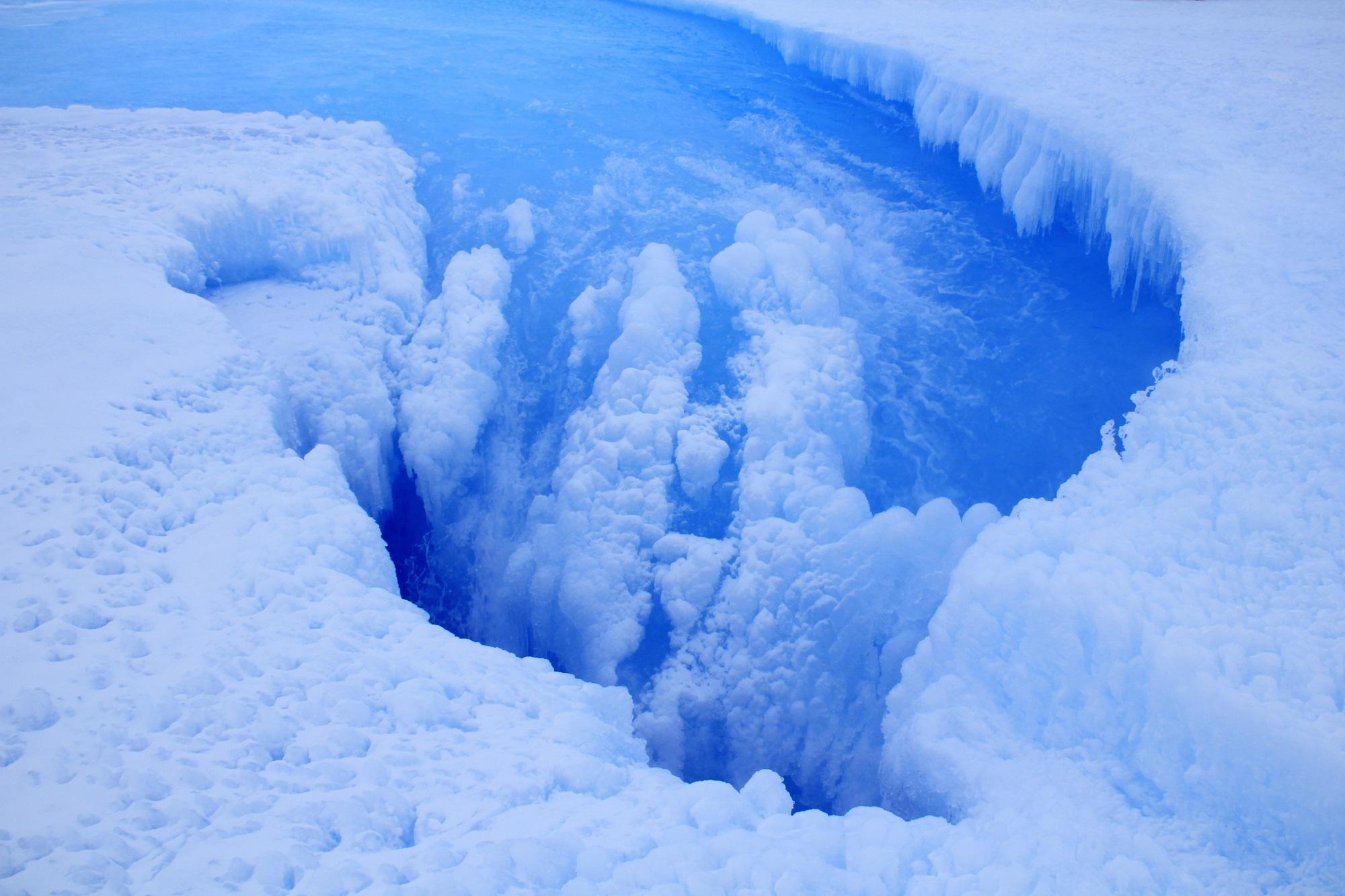 El remolino en la Antártida. Foto: ULB
