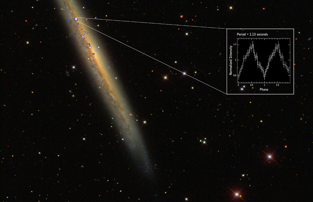 NGC 5907 X-1: un púlsar que bate récords. Foto:ESA/XMM-Newton; NASA/Chandra and SDSS