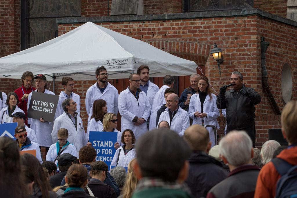 Movilización de científicos en USA. Foto: Peg Hunter.