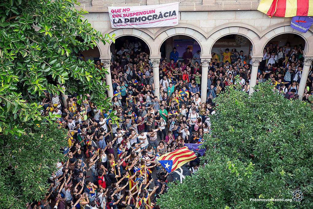 Ocupación de la Universidad de Barcelona el pasado 22 de septiembre. Credit: Fotomovimiento