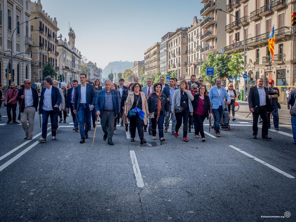 Alcaldes en apoyo de la Independencia. Fotomovimiento.