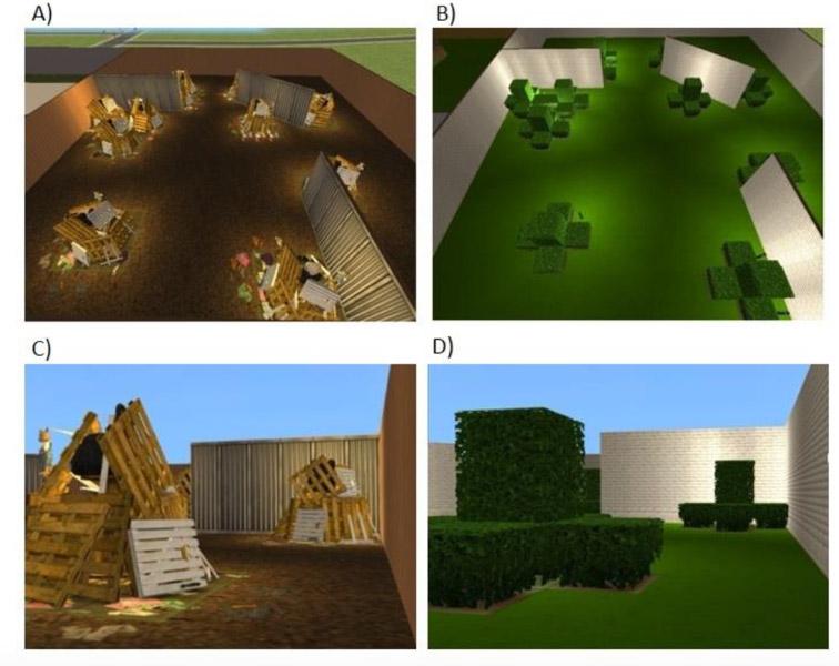 Escenas virtuales del experimento. Fuente: Colorado State University.