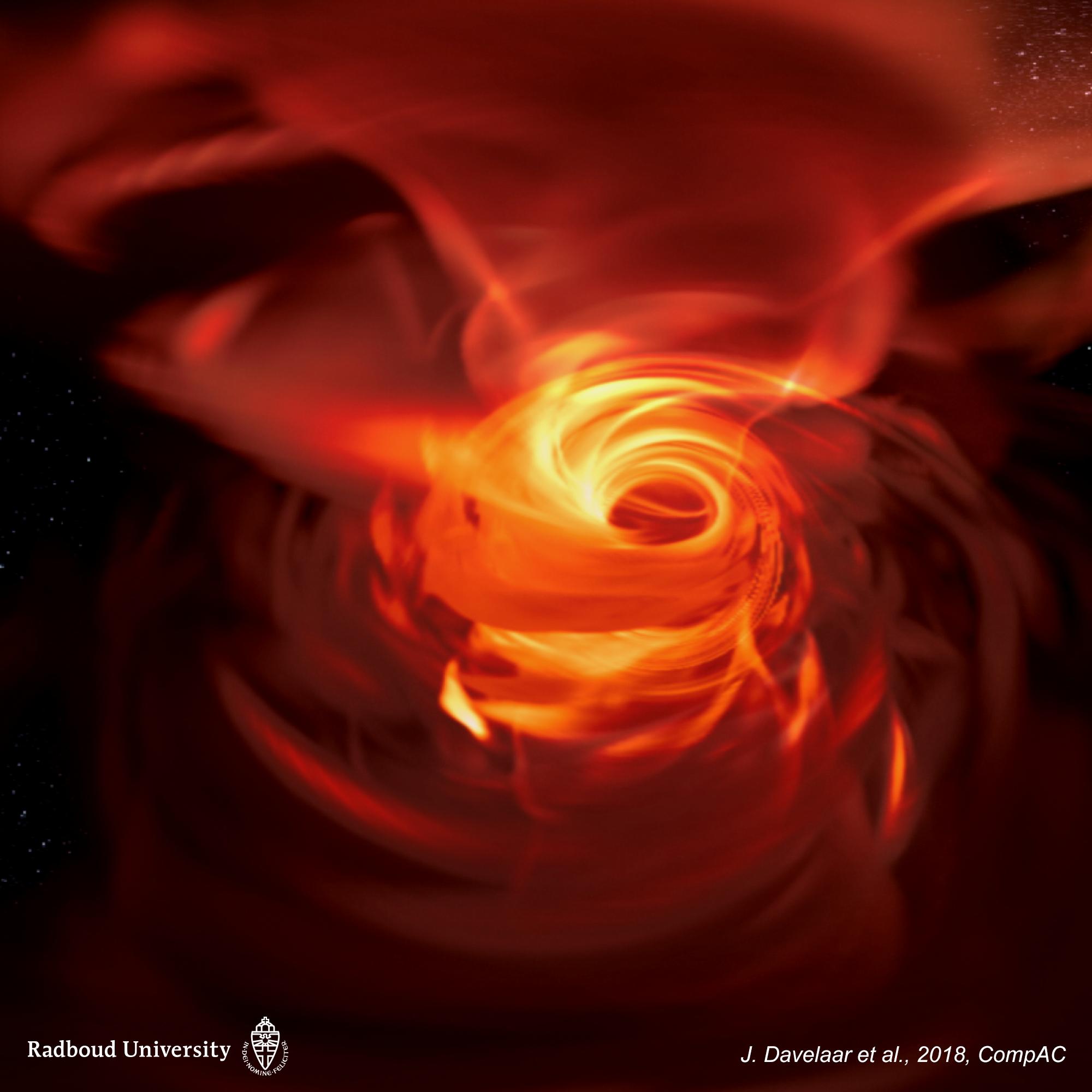Crean una simulación virtual de un agujero negro