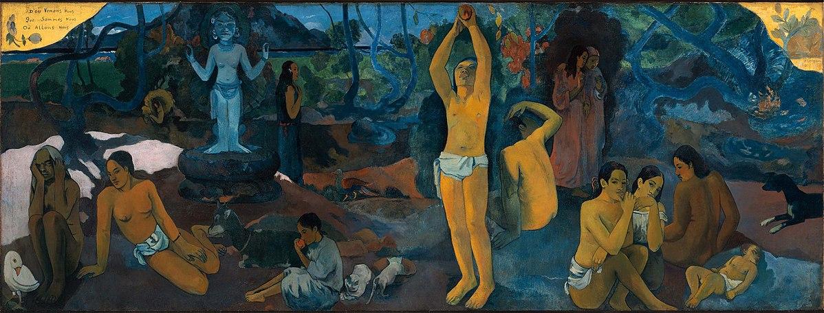 ¿De dónde venimos? ¿Quiénes somos? ¿A dónde vamos?, una de las pinturas más famosas del  post-impresionista Paúl Gauguin.