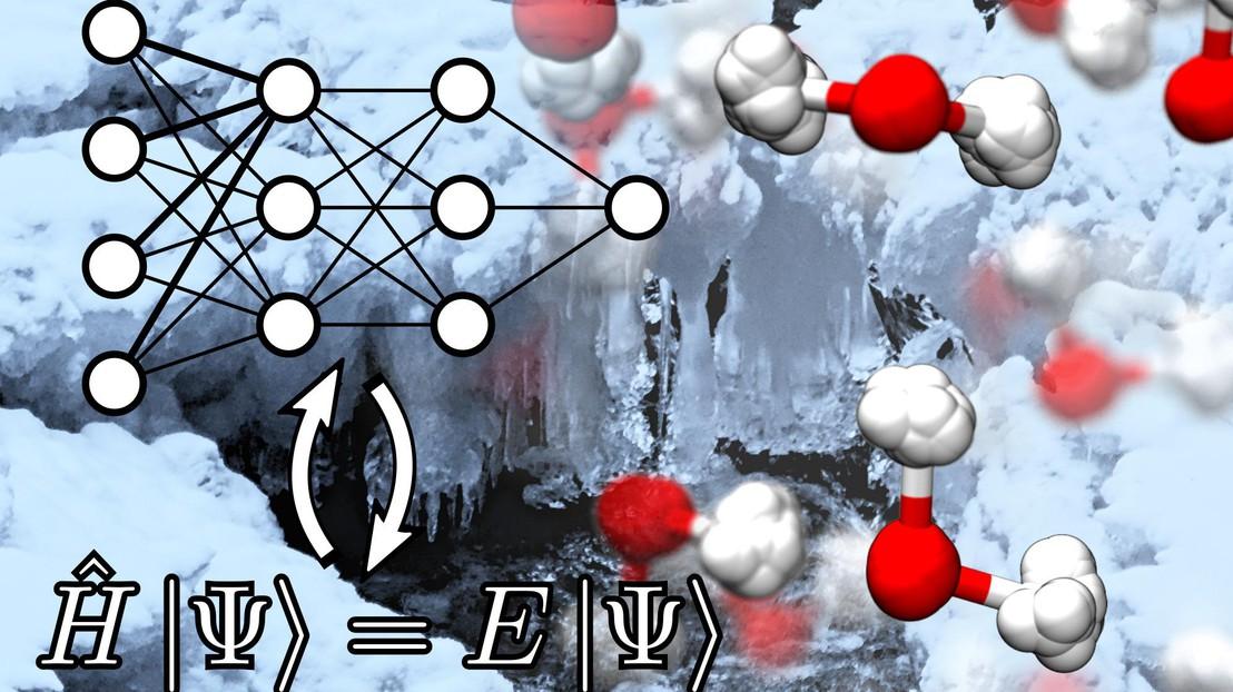 Las fluctuaciones cuánticas nucleares son básicas en la modulación de las estabilidades termodinámicas de las diferentes fases del agua. Imagen: Michele Ceriotti. EPFL