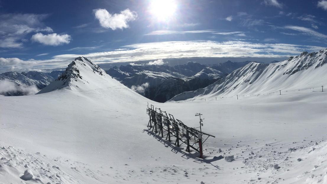 El sistema experimental en Totalp, Davos. © 2019 EPFL/CRYOS