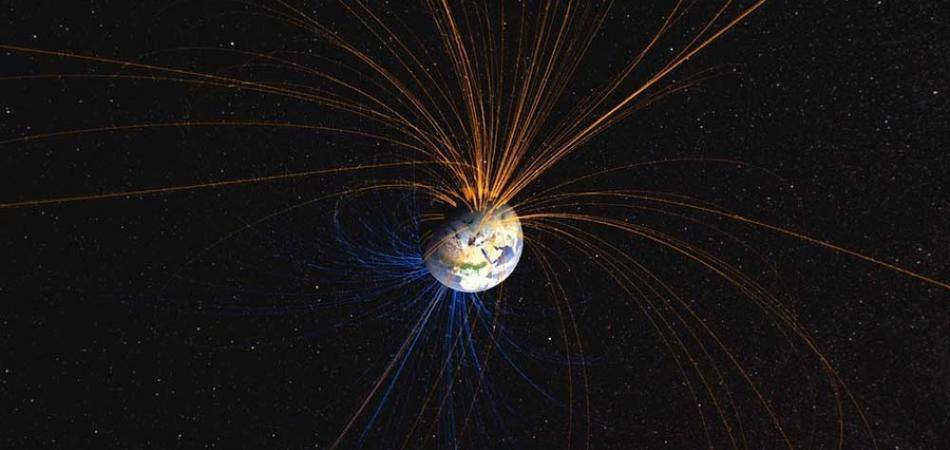 epresentación del campo magnético terrestre. NASA. Goddard Space Flight Centre.