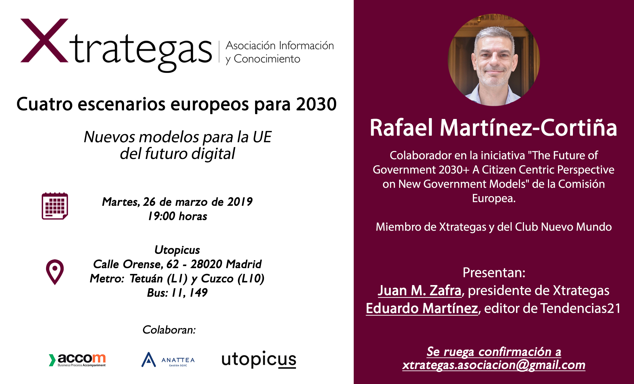 Cartel del debate de Madrid. Fuente: Xtrategas. Click sobre la imagen para ampliar.