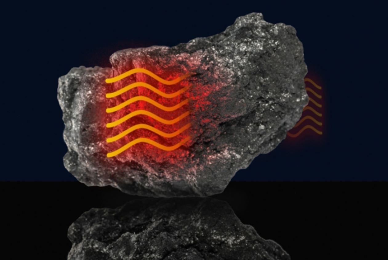 El calor se mueve a través del grafito de manera similar a como el sonido se mueve a través del aire. Imagen: Christine Daniloff (MIT).