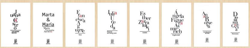 La Colección Genialogías al completo en la actualidad. Fuente: Ediciones Tigres de Papel.