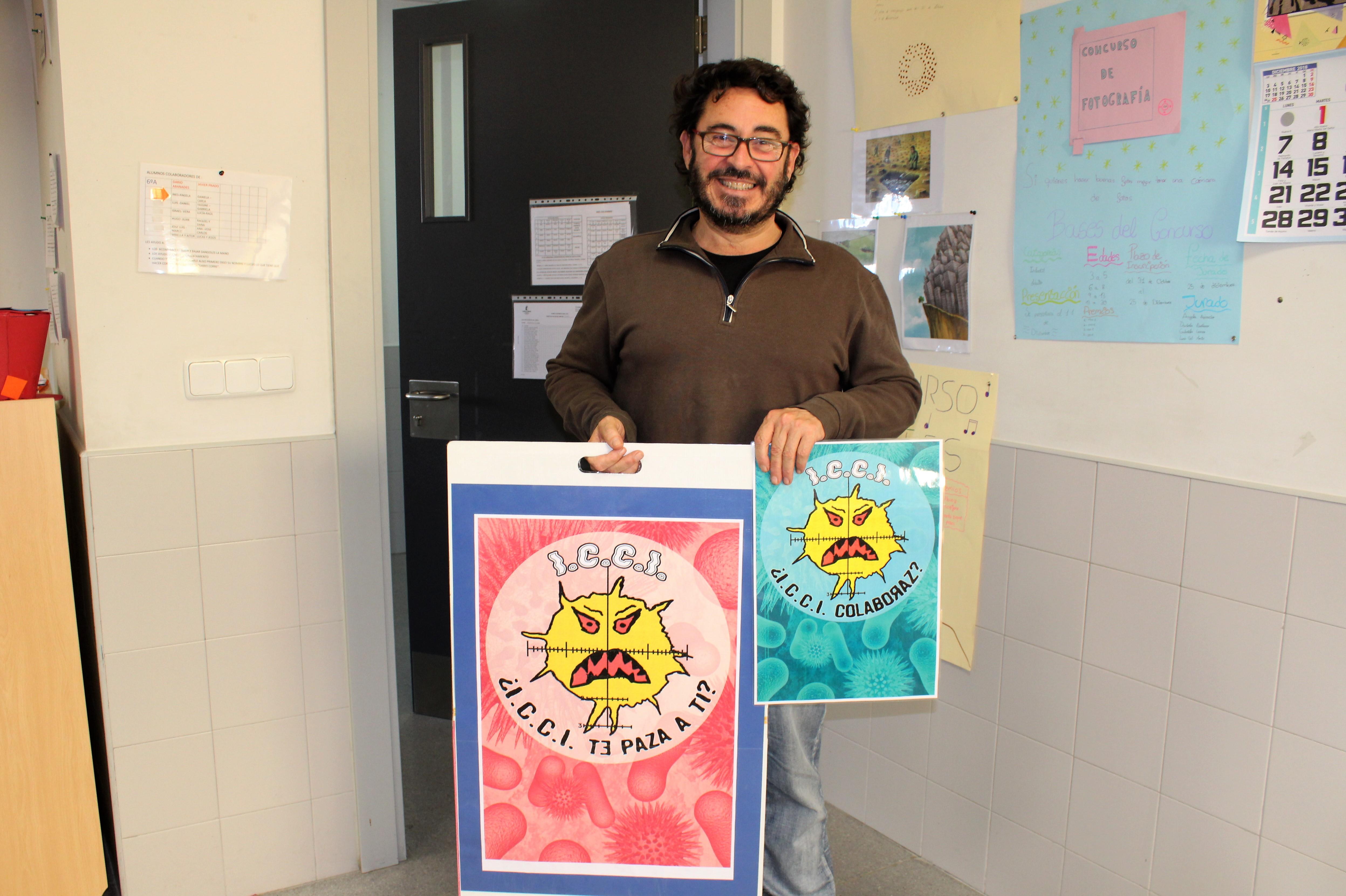 Javier Aranda, tutor de  6º A. Imagen: Eva Reneses.