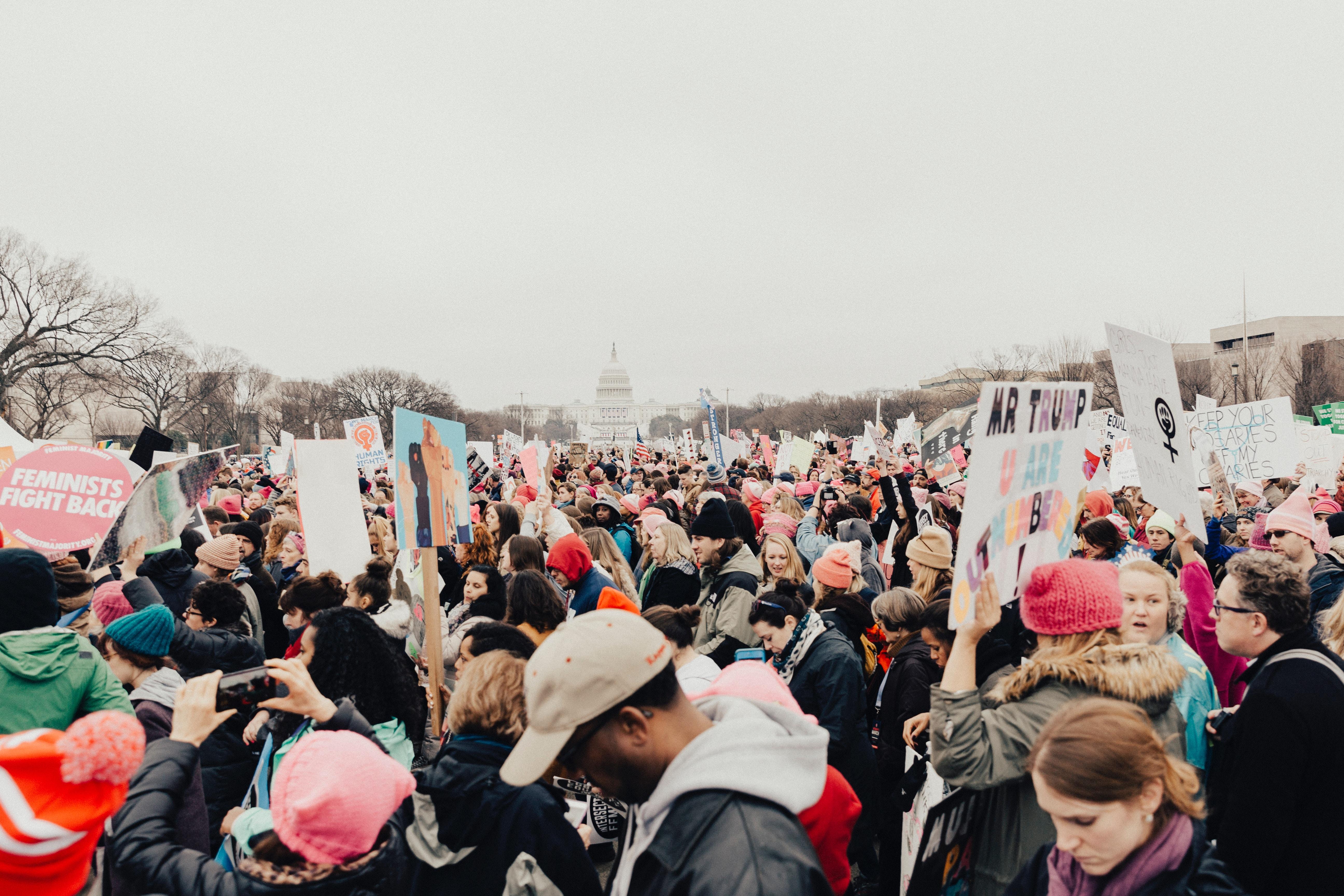 Marcha de mujeres sobre Washington. Foto: roya ann miller.