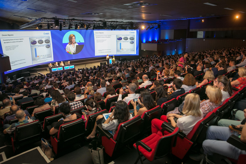 Momento del congreso. Foto: European Academy of Neurology.