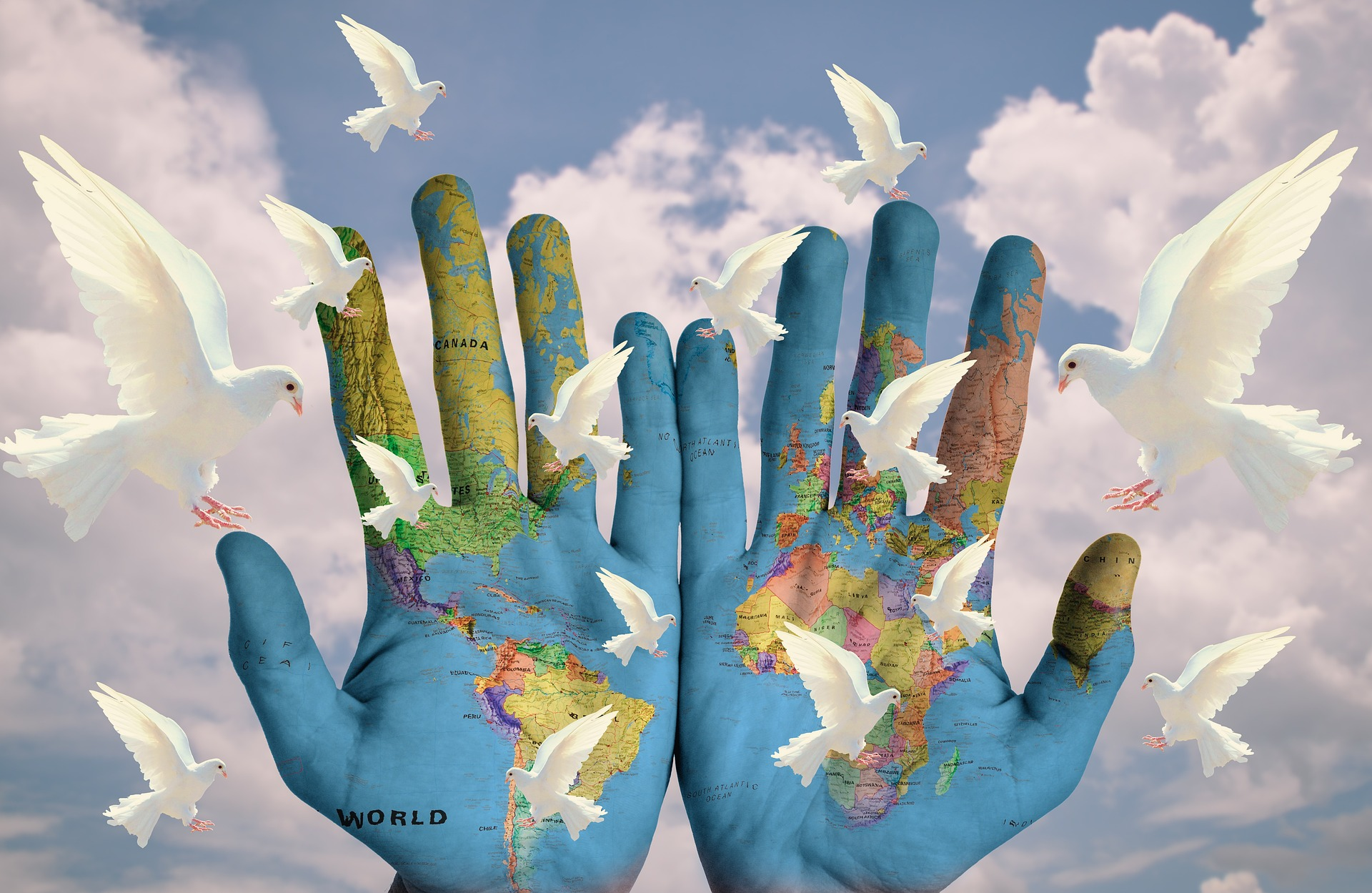 Metáfora de un mundo en armonía. Imagen de S. Hermann & F. Richter en Pixabay