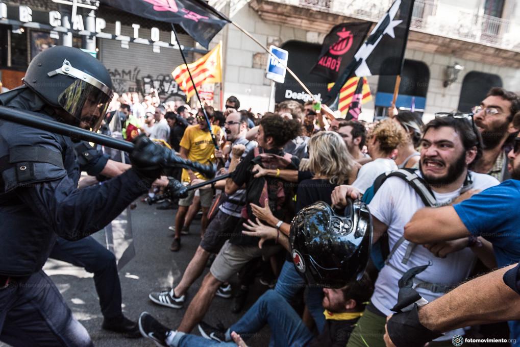 Movilizaciones en Cataluña contra la extrema derecha, el 29 de septiembre de 2018. Foto: Fotomovimiento.