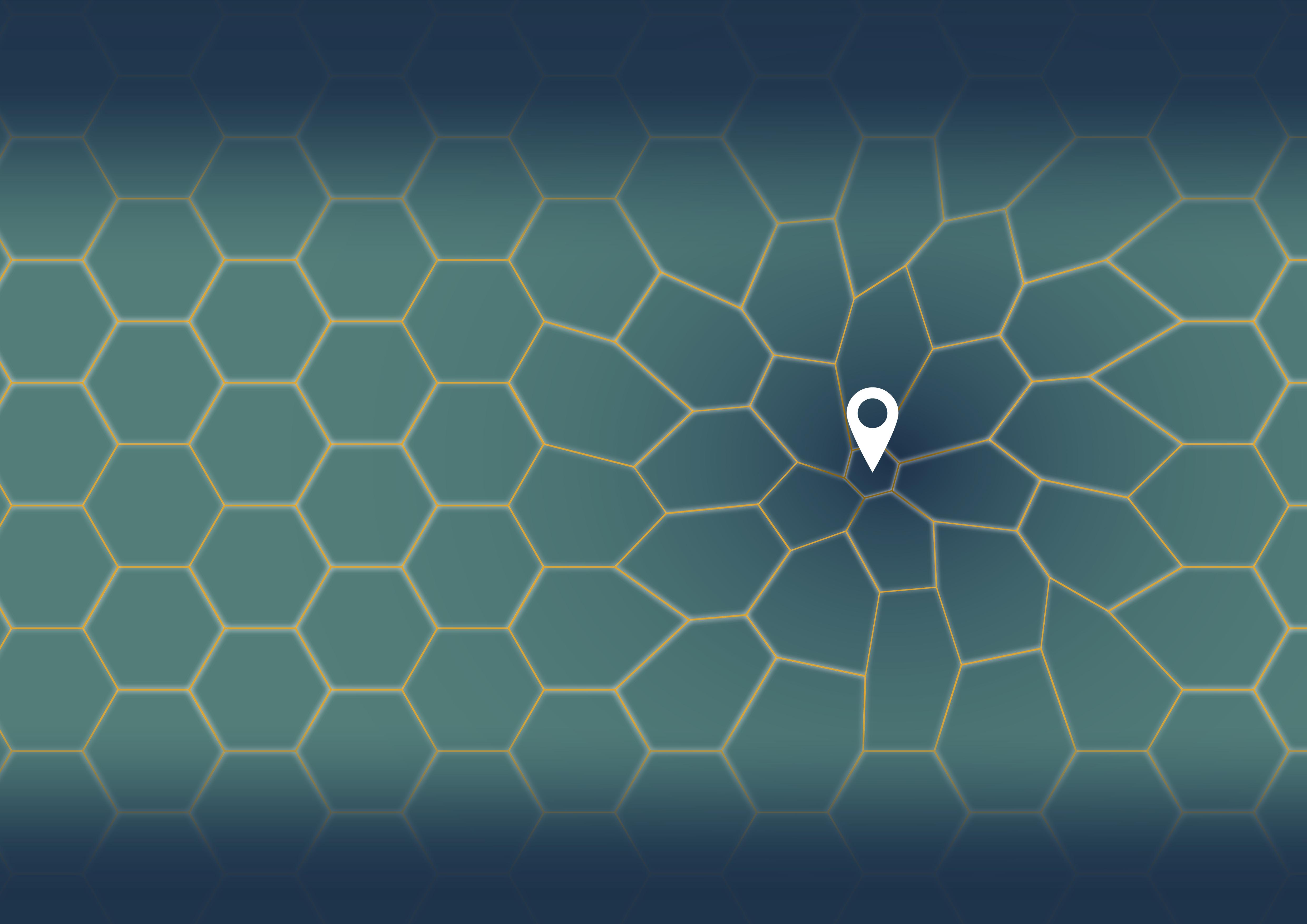 Representación gráfica de cómo se distorsiona la memoria espacial cuando navegamos por un entorno geométricamente irregular: los hexágonos se desconfiguran, se convierten en trapecios y se deterioran los recuerdos del entorno. MPI CBS