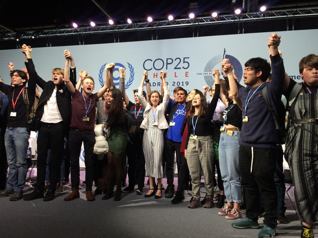 Los jóvenes, protagonistas de la COP25. Foto: John Englart.