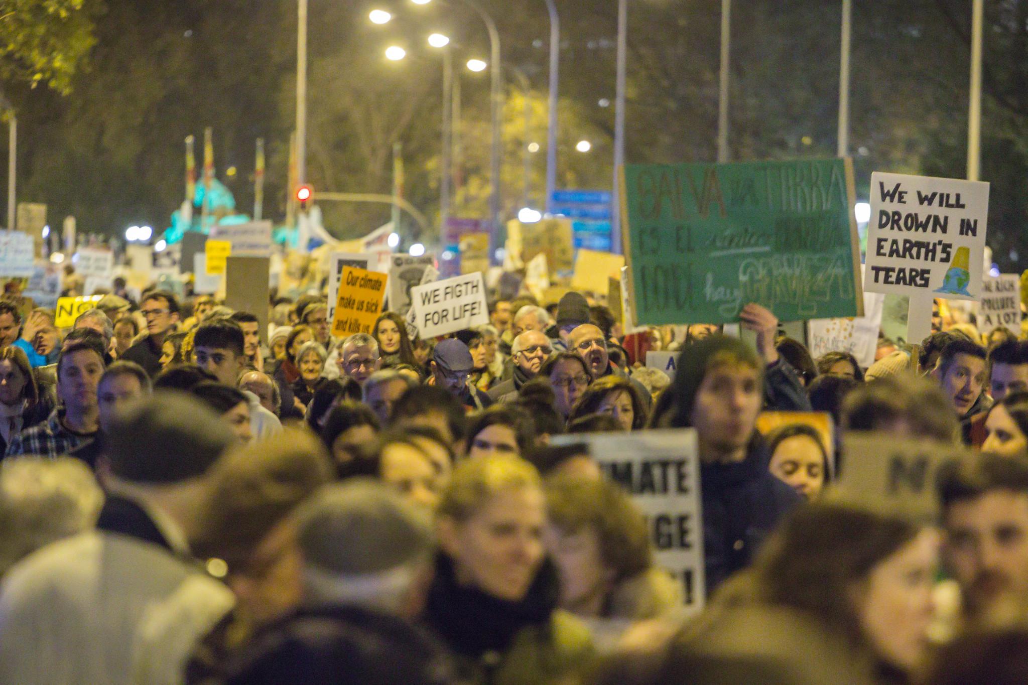 Manifestación en Madrid el 6 de diciembre. Foto: Víctor Barro.