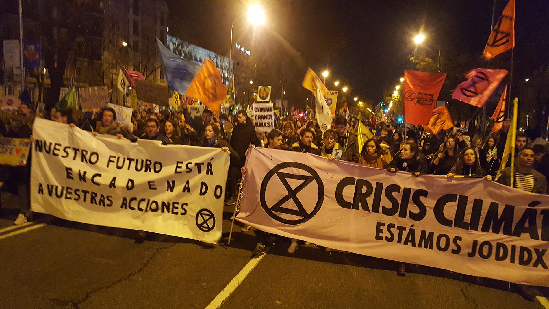 Manifestación por el clima el 6 de diciembre en Madrid. Foto: AS