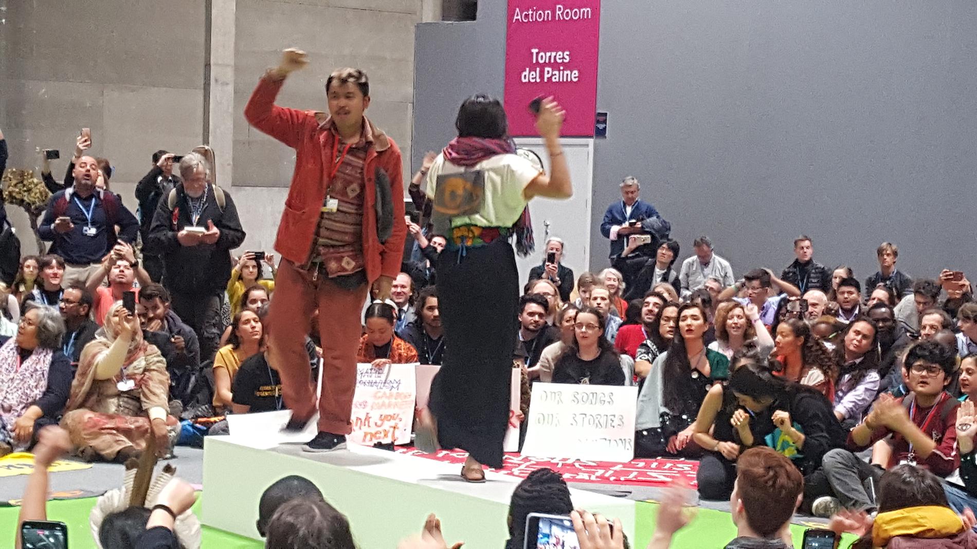 Protesta de FFF en la COP25. Foto: AS.