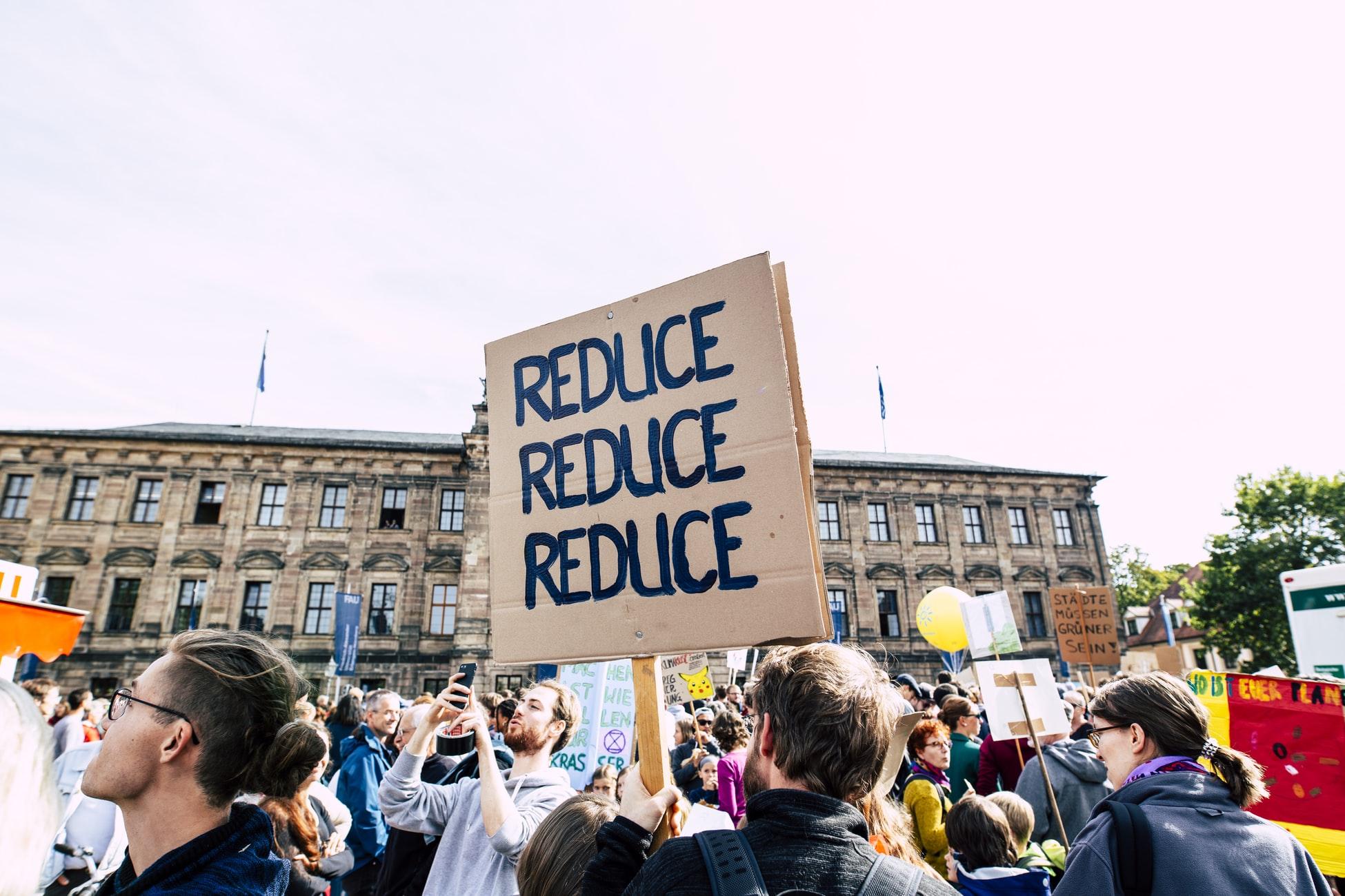 Protesta contra el calentamiento global. Foto: Markus Spiske.