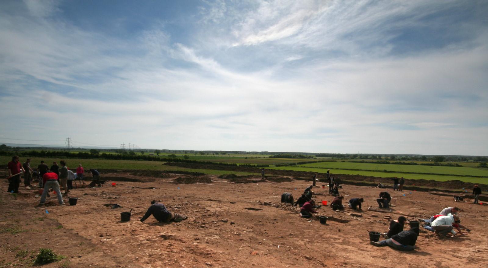 Excavación arqueológica de la Universidad de York en Heslington East. Foto: James Gunn.