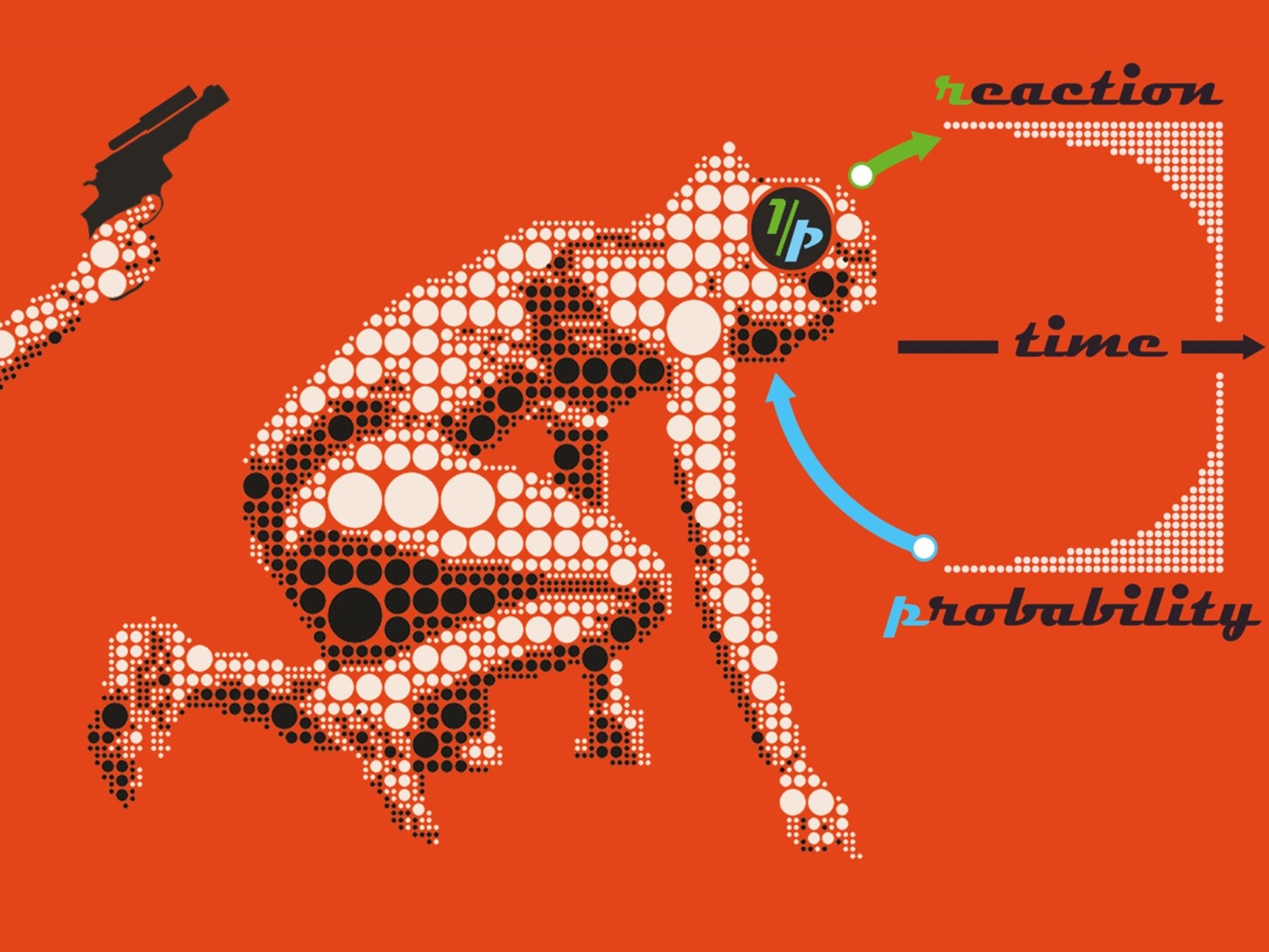 El tiempo de reacción a un evento estocástico (no determinista) es proporcional al recíproco de su probabilidad. Imagen: Georgios Michalareas. Max Planck Institute for Empirical Aesthetics.