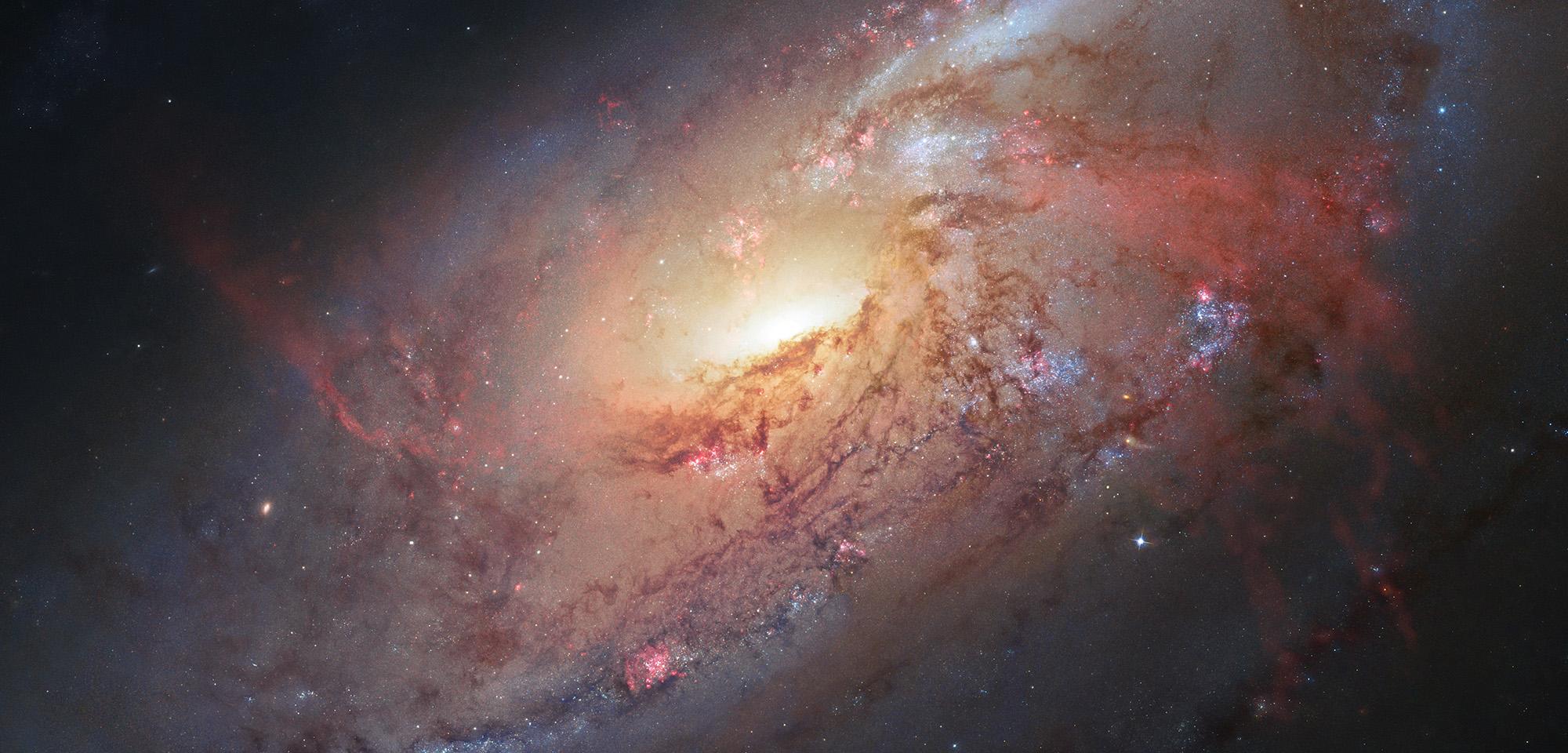 GalaxIA M106. Foto: Hubble.