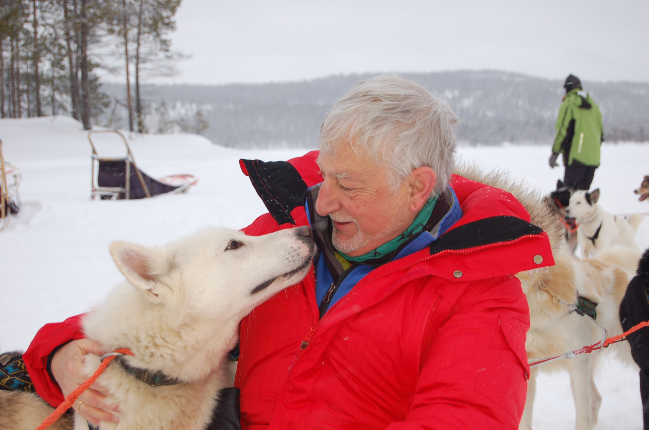 Javier Cacho durante un viaje en el  Ártico. Foto: JC.