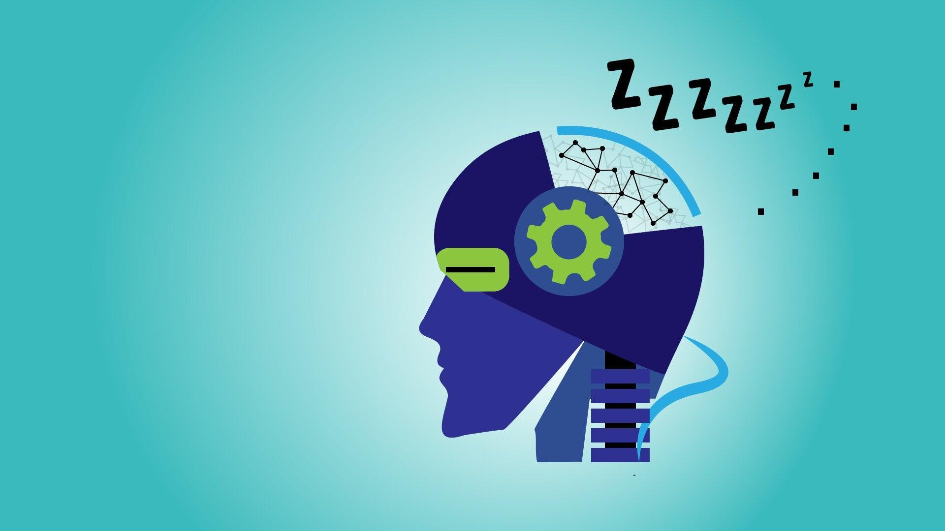 El sueño puede ser tan vital para las máquinas inteligentes del futuro como lo es para nosotros. CRÉDITO: Laboratorio Nacional de Los Álamos.