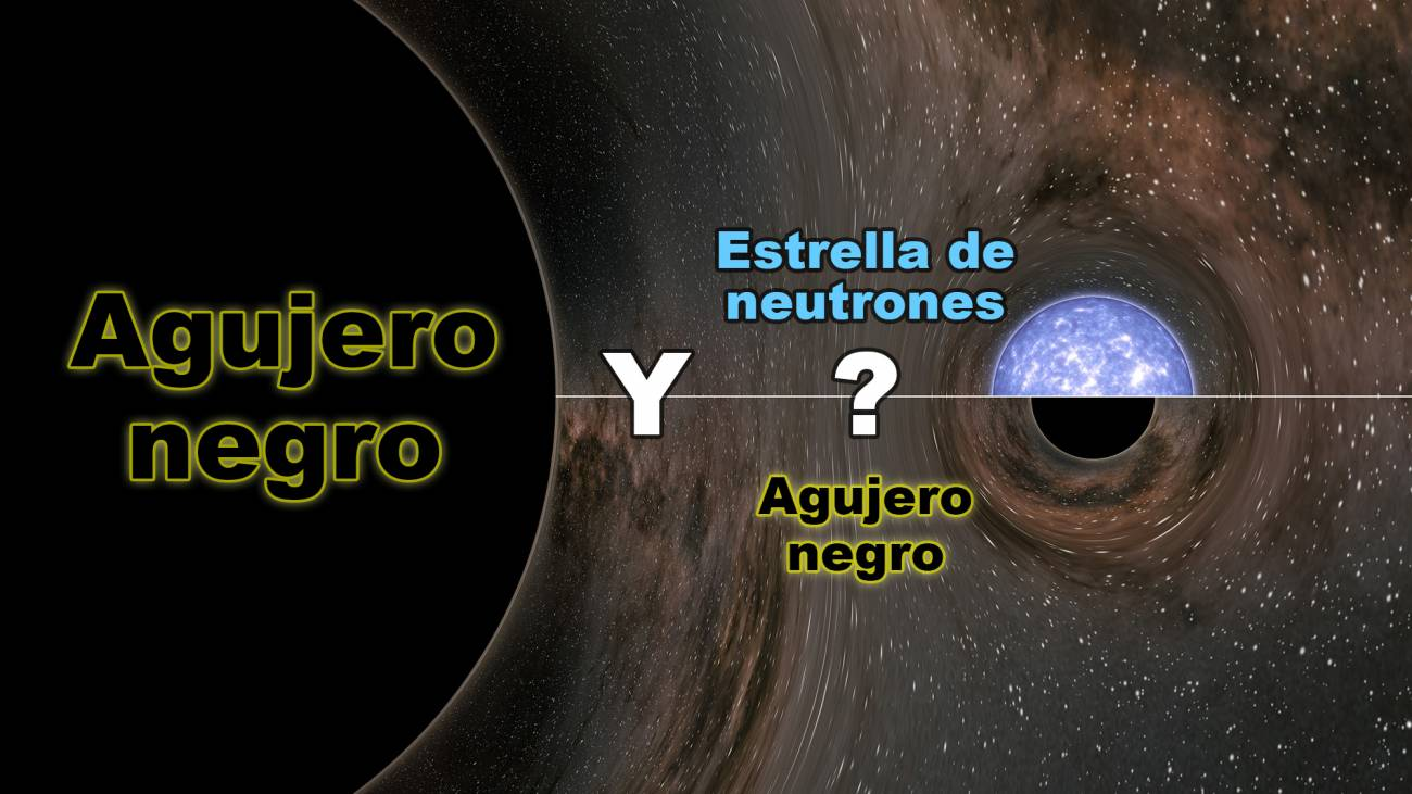 En agosto de 2019, la red de ondas gravitacionales LIGO-Virgo fue testigo de la fusión de un agujero negro con 23 veces la masa de nuestro sol con un objeto misterioso con 2,6 veces la masa de nuestra estrella, que tuvo lugar a 800 millones de años luz de la Tierra. Los científicos no saben si es un agujero negro o una estrella de neutrones. / LIGO / Caltech / MIT / R. Daño (IPAC)