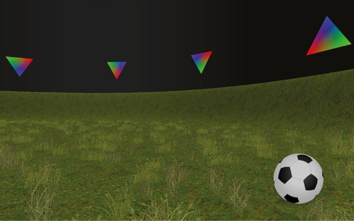 Escenario de realidad virtual creado por los investigadores para el estudio. Foto: MPI CBS.