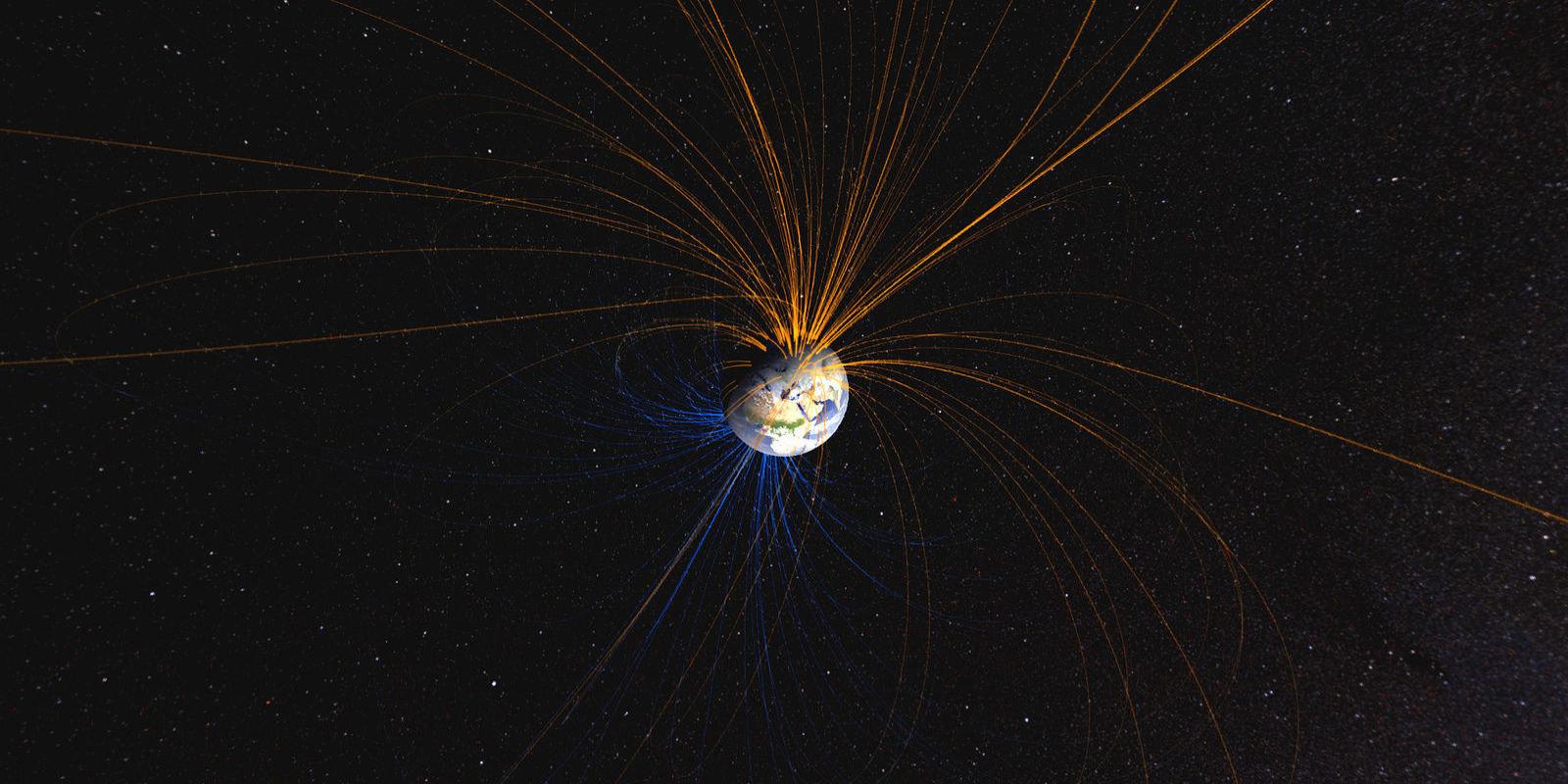 El campo magnético terrestre. NASA.